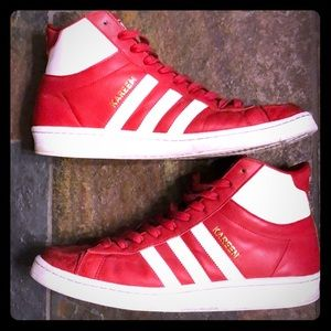 Men's Red High Top Adidas